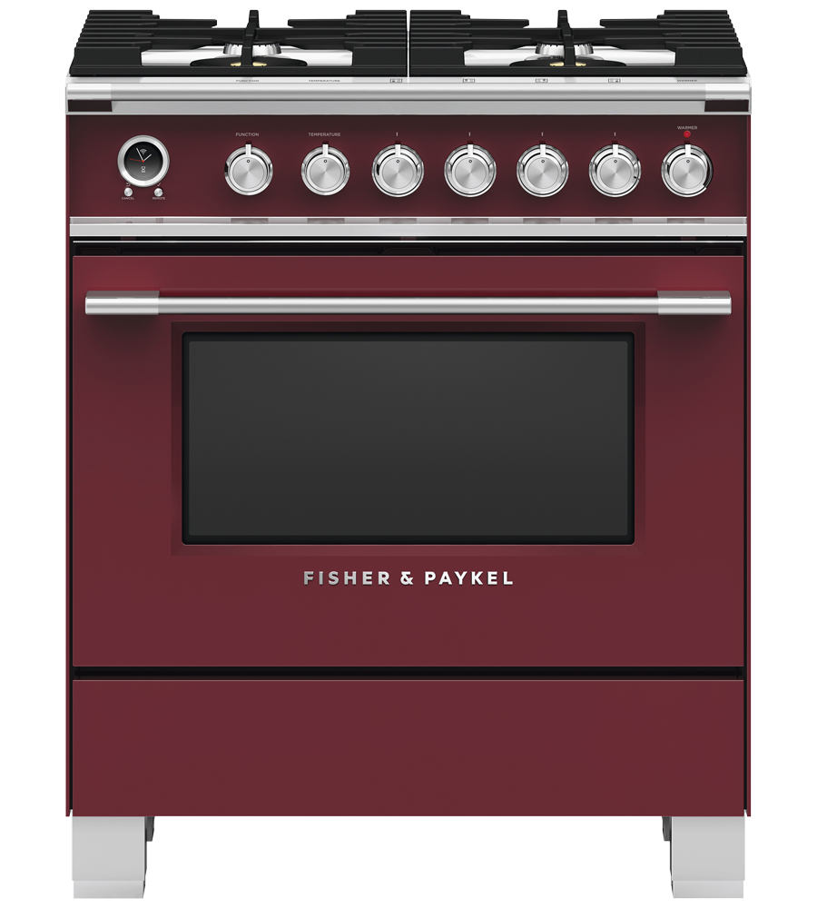 Fisher & Paykel Range in Red color showcased by Corbeil Electro Store