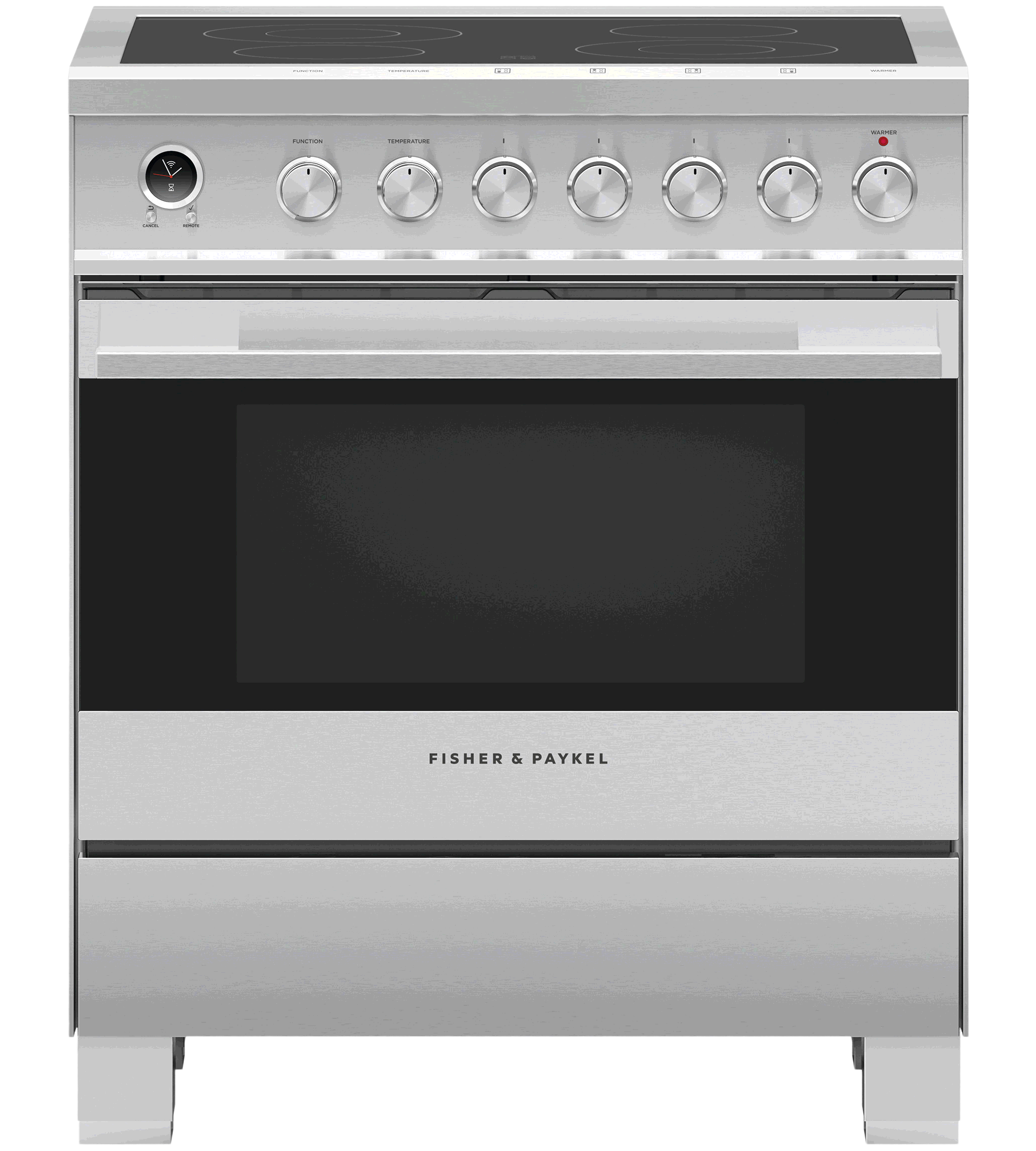 Fisher & Paykel Range in Stainless Steel color showcased by Corbeil Electro Store