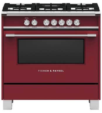 CuisinièreFisher & Paykel en couleur Rouge présenté par Corbeil Electro Store