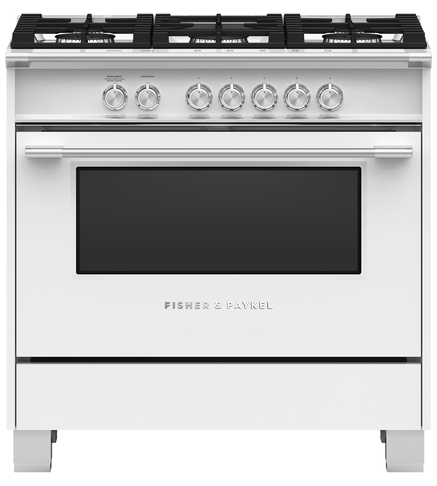Fisher & Paykel Range in White color showcased by Corbeil Electro Store