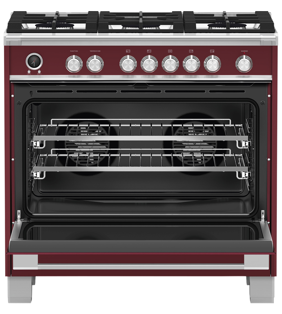 Fisher and Paykel Cuisiniere 36 Rouge OR36SCG6R1