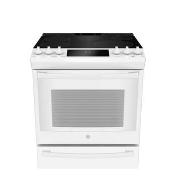 GE Profile Cuisiniere 30 PCS940 en couleur Blanc présenté par Corbeil Electro Store