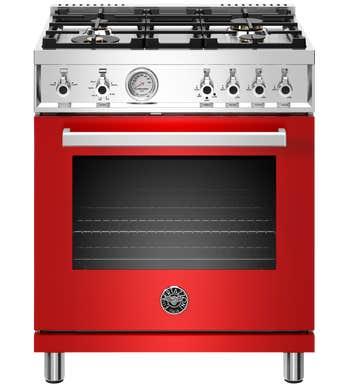 Bertazzoni Cuisinière 30po en couleur Rouge présenté par Corbeil Electro Store