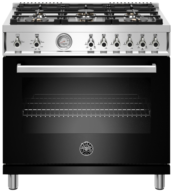 Bertazzoni Cuisinière 36po en couleur Noir présenté par Corbeil Electro Store