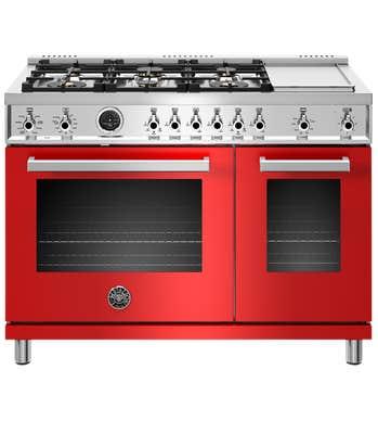 Bertazzoni Cuisinière 48po en couleur Rouge présenté par Corbeil Electro Store