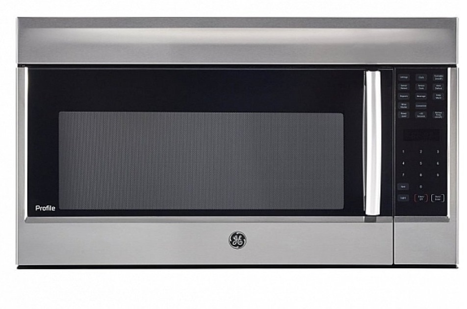 GE Over-the-range microwave showcased by Corbeil Electro Store