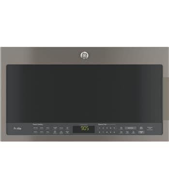 GE Micro-onde hotte en couleur Ardoise présenté par Corbeil Electro Store