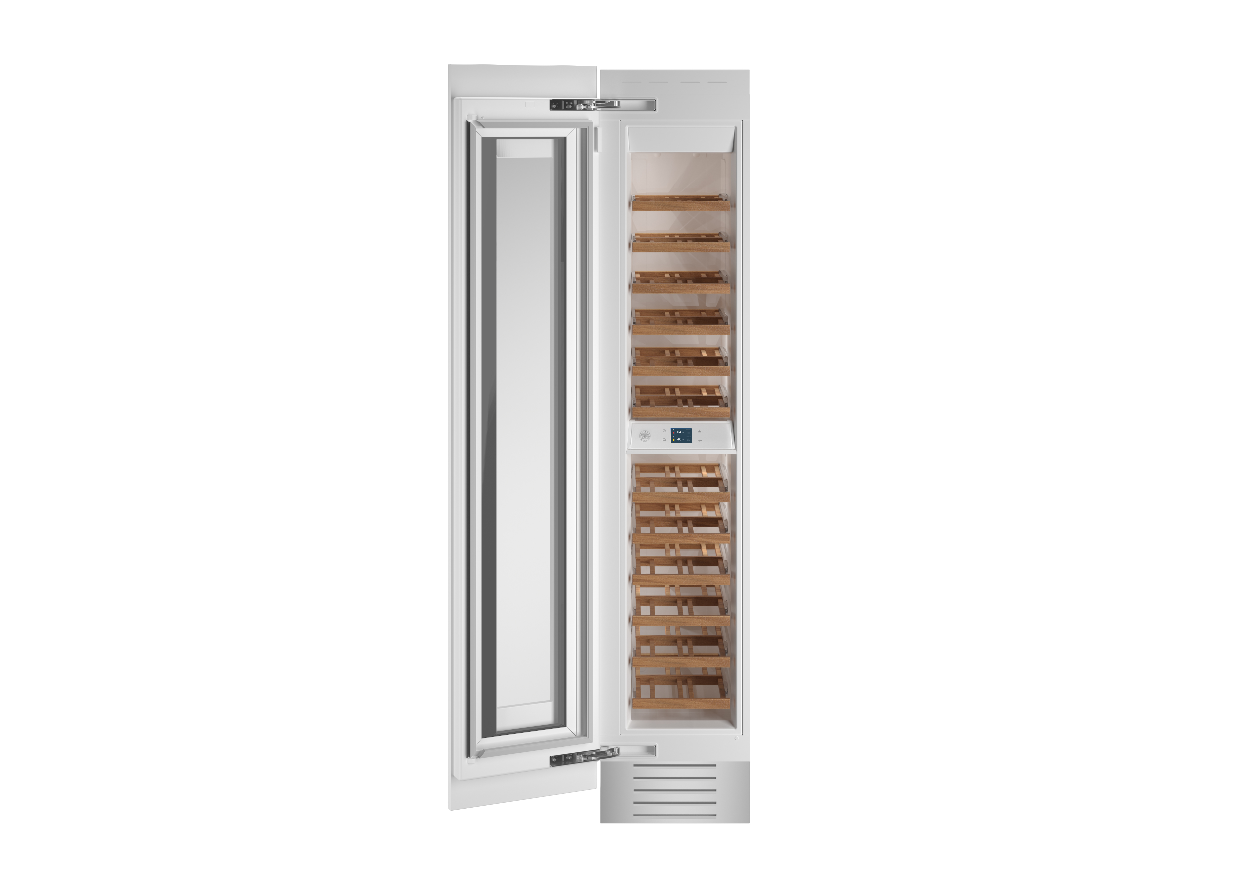Bertazzoni Cellar REF18WCPRL in Stainless Steel color showcased by Corbeil Electro Store