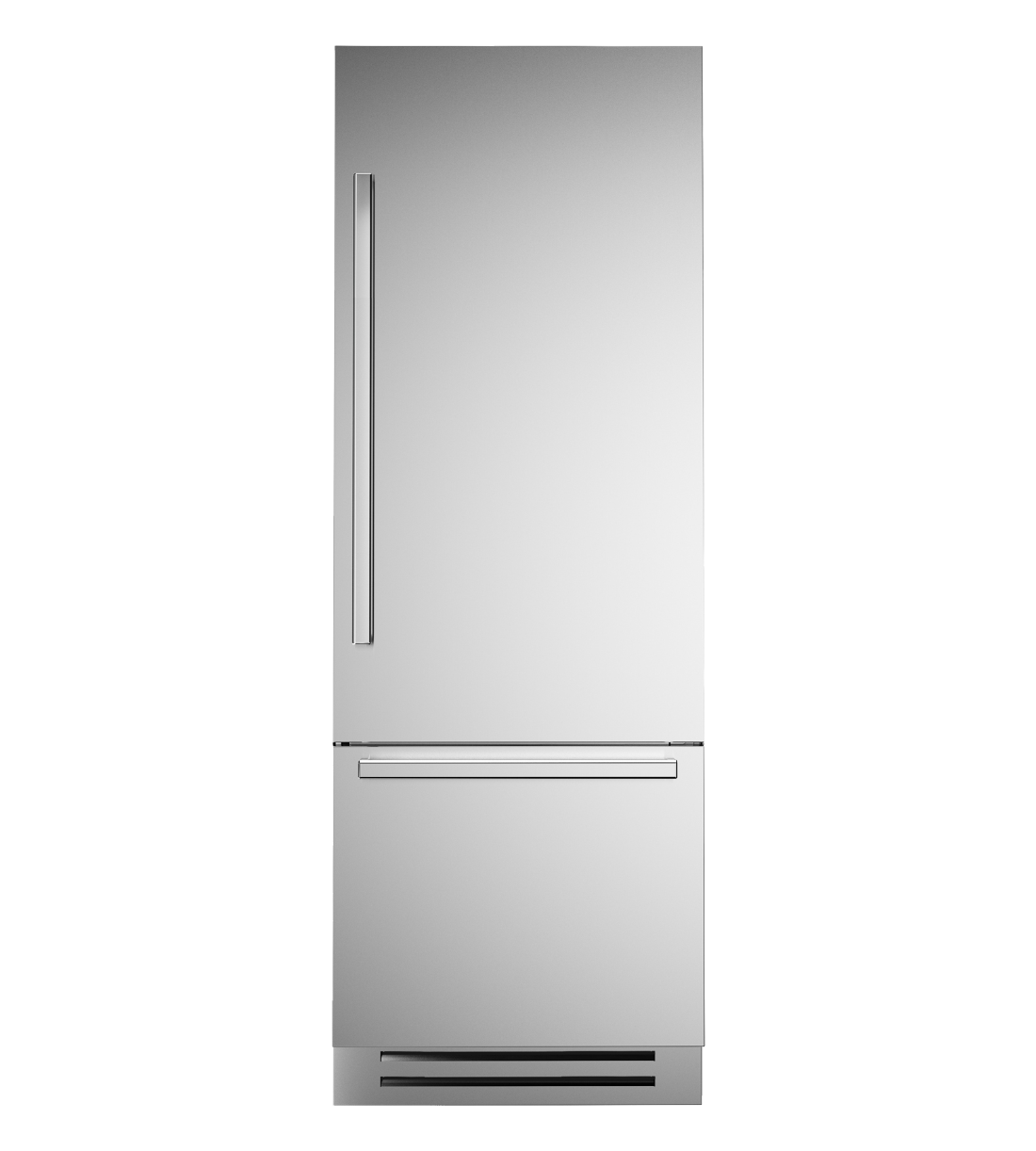 Bertazzoni Fridge 30inch in Stainless Steel color showcased by Corbeil Electro Store