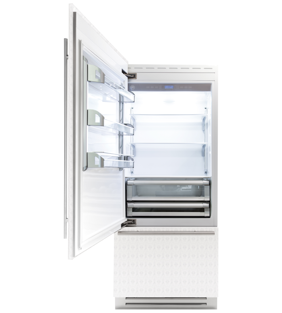 Bertazzoni Refrigerator in Stainless Steel color showcased by Corbeil Electro Store