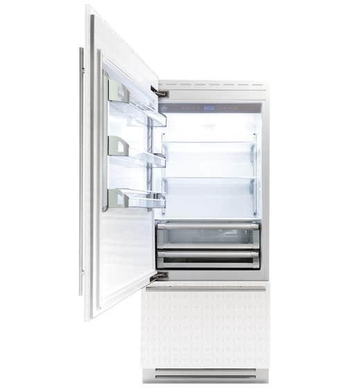 Réfrigérateur Bertazzoni en couleur Acier Inoxydable présenté par Corbeil Electro Store