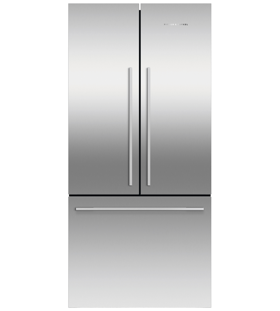 Fisher and Paykel Refrigerator 33 StainlessSteel RF170ADX4 N in Stainless Steel color showcased by Corbeil Electro Store