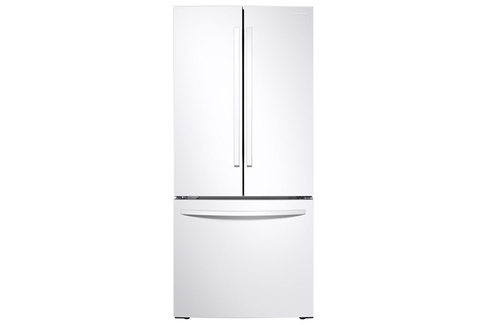 Samsung Fridge RF220NFTAWW in White color showcased by Corbeil Electro Store