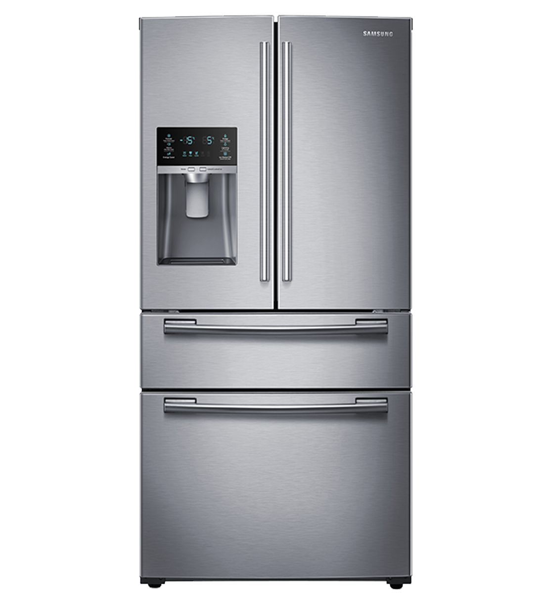 Samsung Refrigerator 33 RF25HMEDBS showcased by Corbeil Electro Store