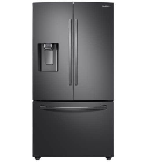 Réfrigérateur Samsung en couleur Acier Inoxydable Noir présenté par Corbeil Electro Store