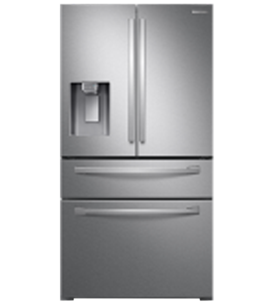 Samsung Refrigerator in Stainless Steel color showcased by Corbeil Electro Store