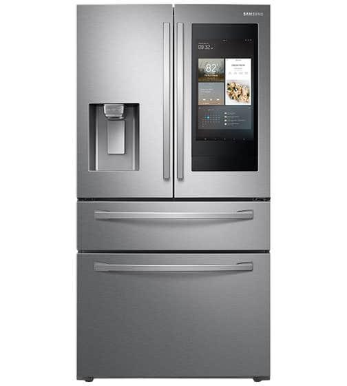 Réfrigérateur Samsung en couleur Acier Inoxydable présenté par Corbeil Electro Store