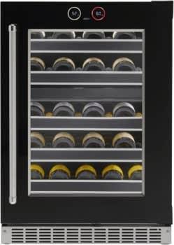 Silhouette Wine cellar in Black color showcased by Corbeil Electro Store
