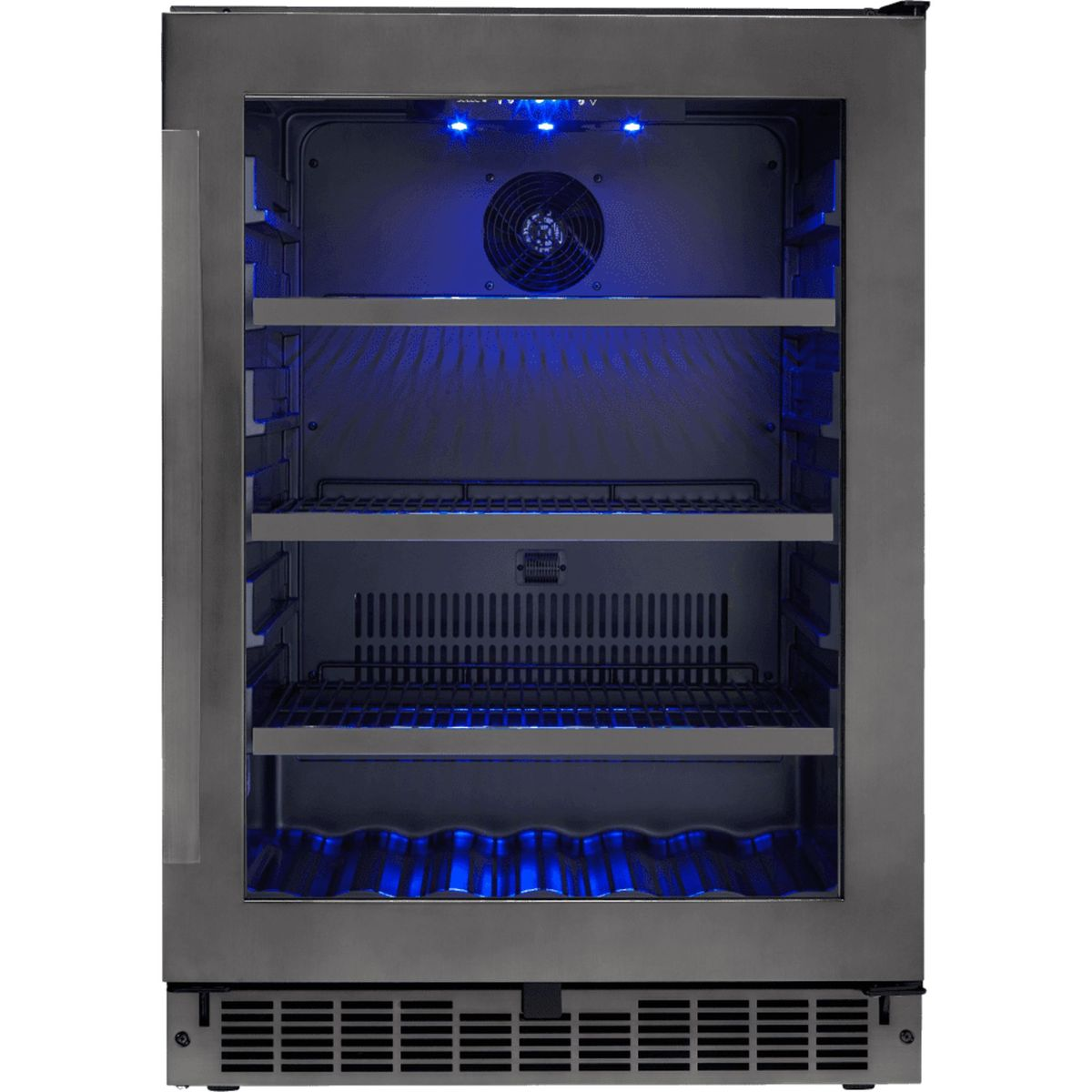 Silhouette Beverage center SSBC056D3B-S in Black Stainless Steel color showcased by Corbeil Electro Store