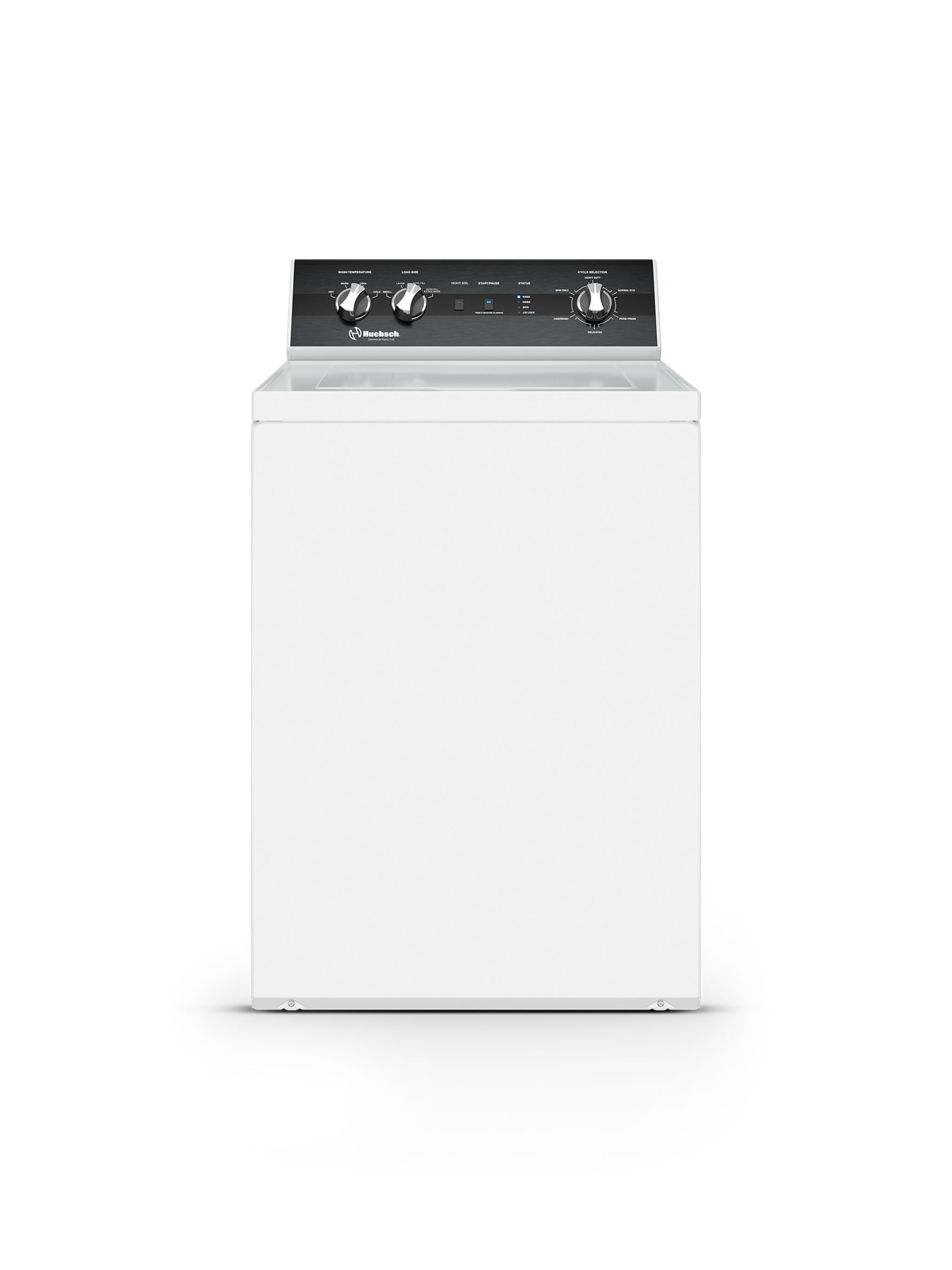 Huebsch Washer 26inch in White color showcased by Corbeil Electro Store