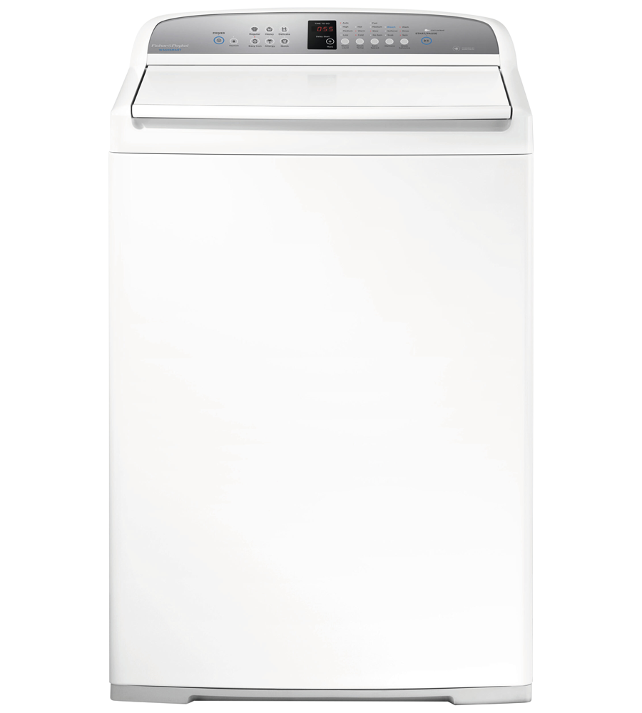 Fisher and Paykel Washer 27 White WA3927G1 in White color showcased by Corbeil Electro Store