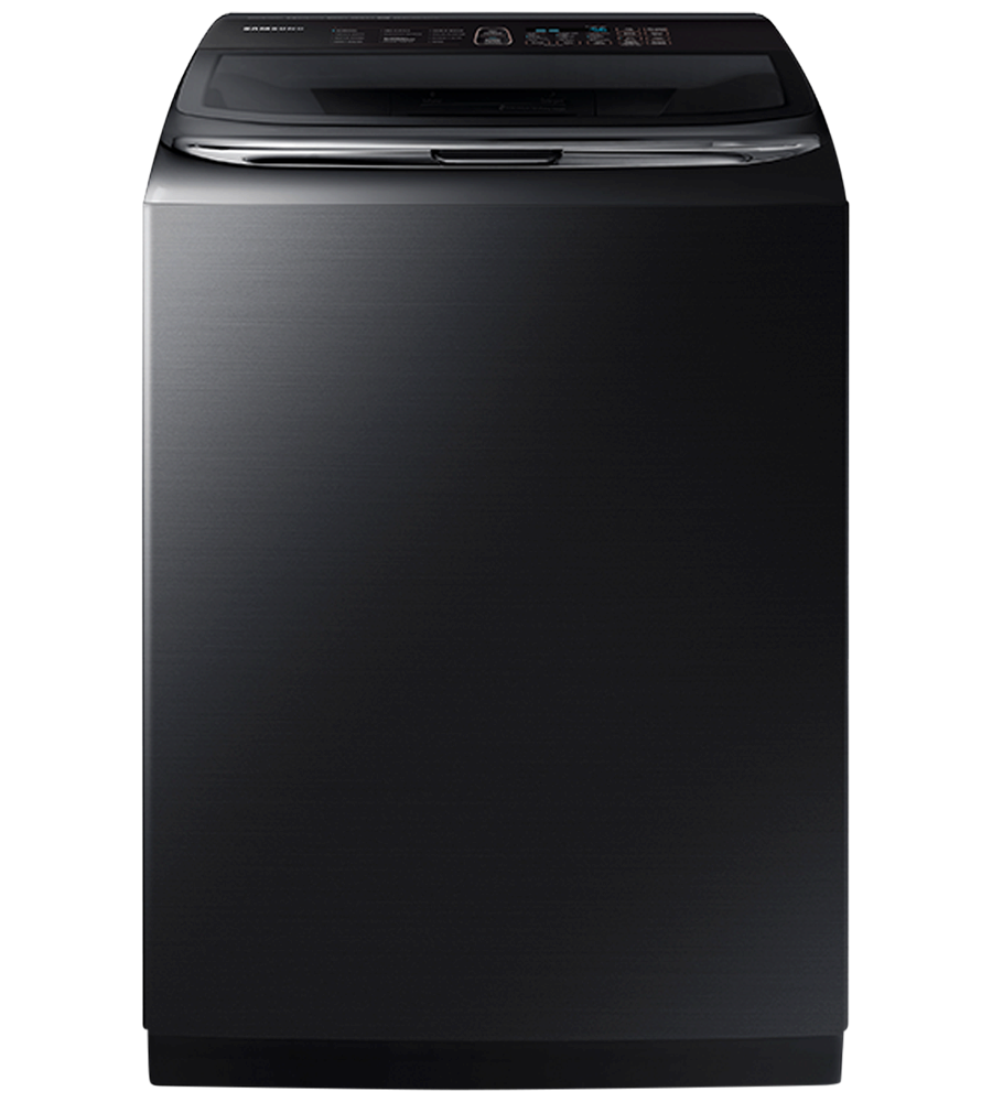 Samsung Washer in Black Stainless Steel color showcased by Corbeil Electro Store