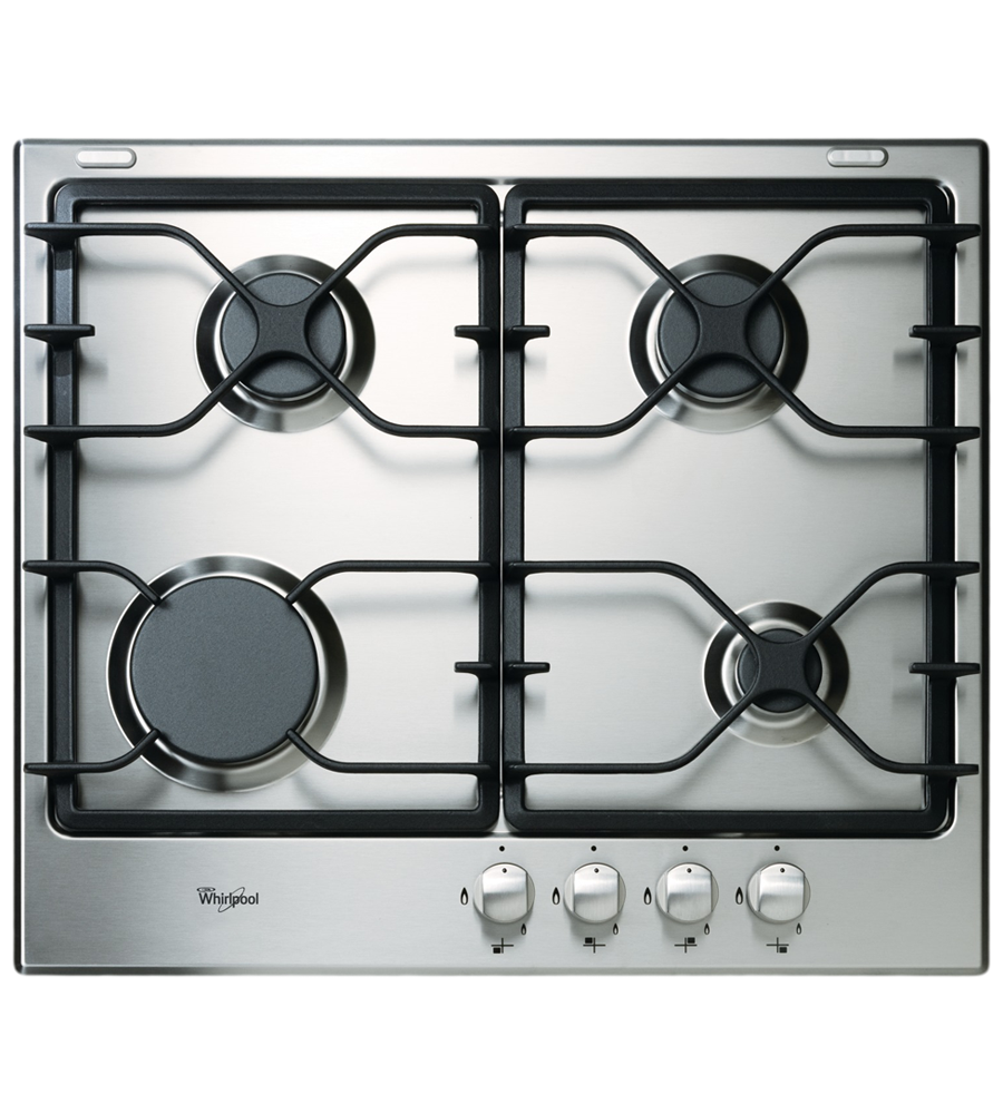 Whirlpool Cooktop in Black on Stainless Steel color showcased by Corbeil Electro Store