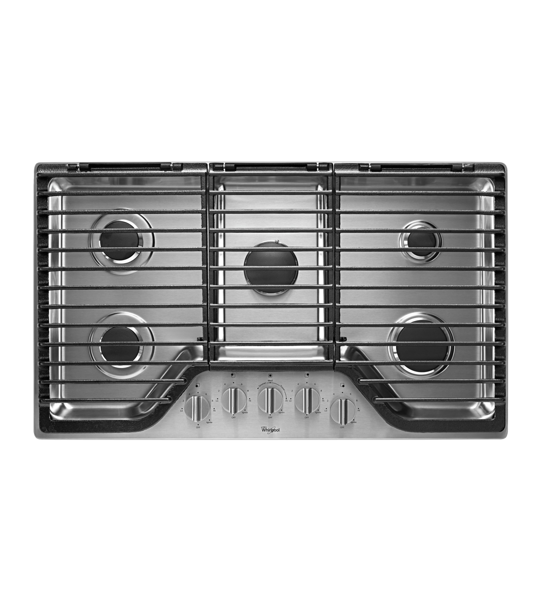 Whirlpool Cooktop in Stainless Steel color showcased by Corbeil Electro Store