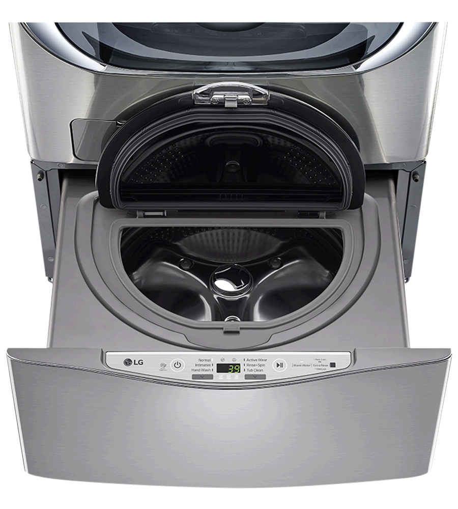 LG Washer in Grey color showcased by Corbeil Electro Store