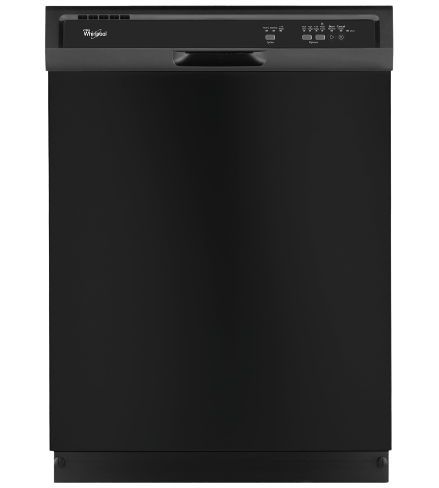 Whirlpool Dishwasher in Black color showcased by Corbeil Electro Store