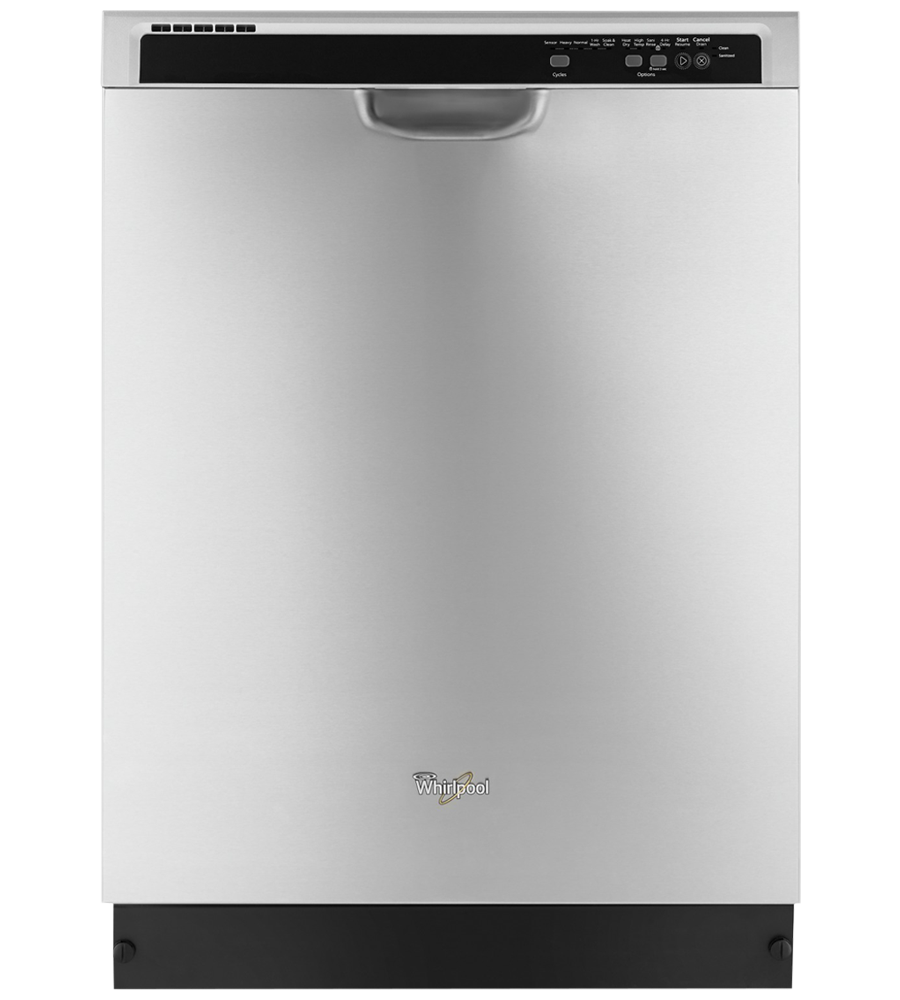 Whirlpool Dishwasher 24 WDF540PAD in Stainless Steel color showcased by Corbeil Electro Store