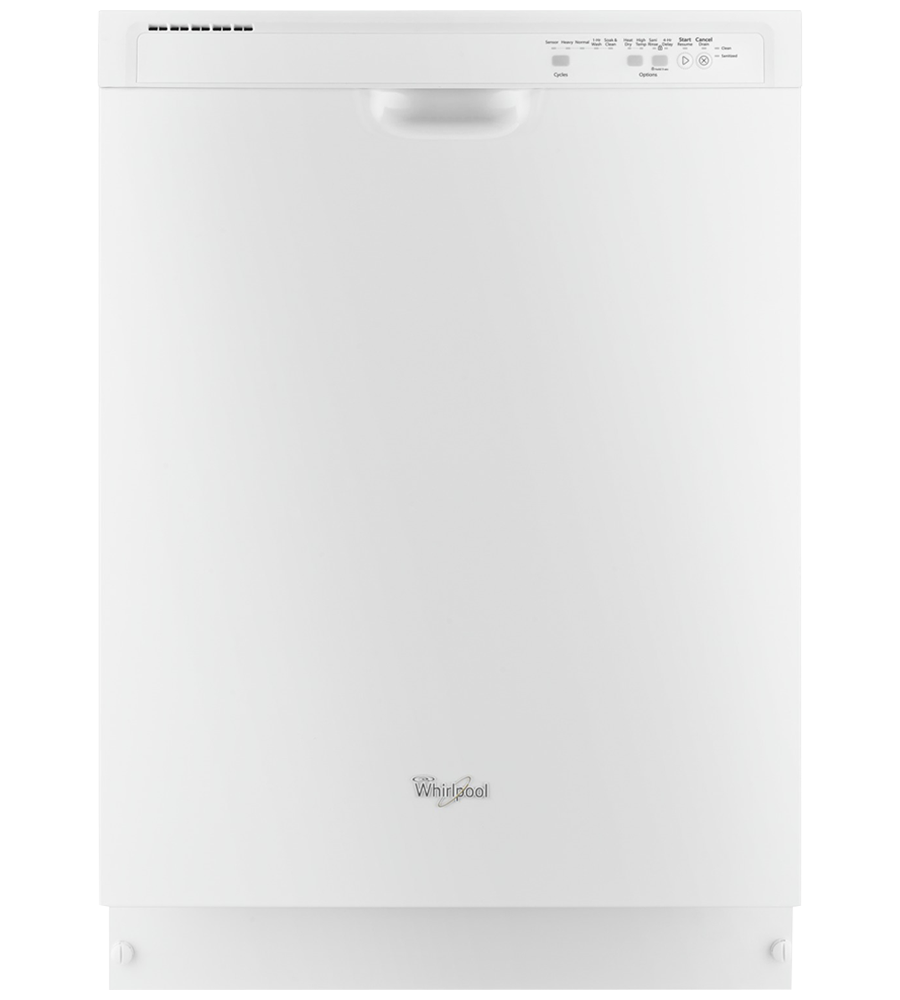 Whirlpool Dishwasher 24 WDF540PAD in White color showcased by Corbeil Electro Store
