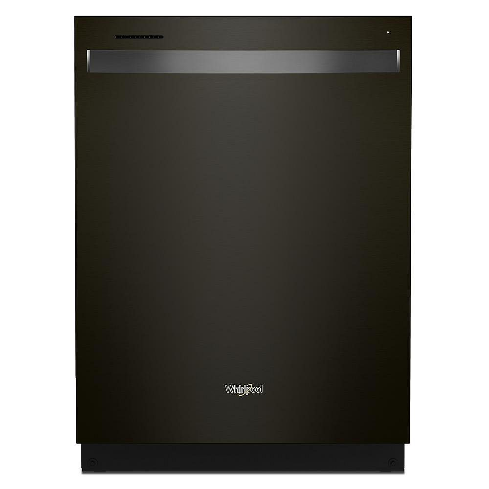 Whirlpool Dishwasher WDT750SAKV in Black Stainless Steel color showcased by Corbeil Electro Store