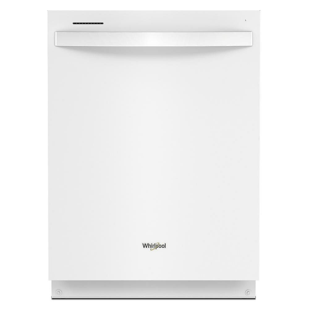 Whirlpool Dishwasher WDT750SAKW in White color showcased by Corbeil Electro Store