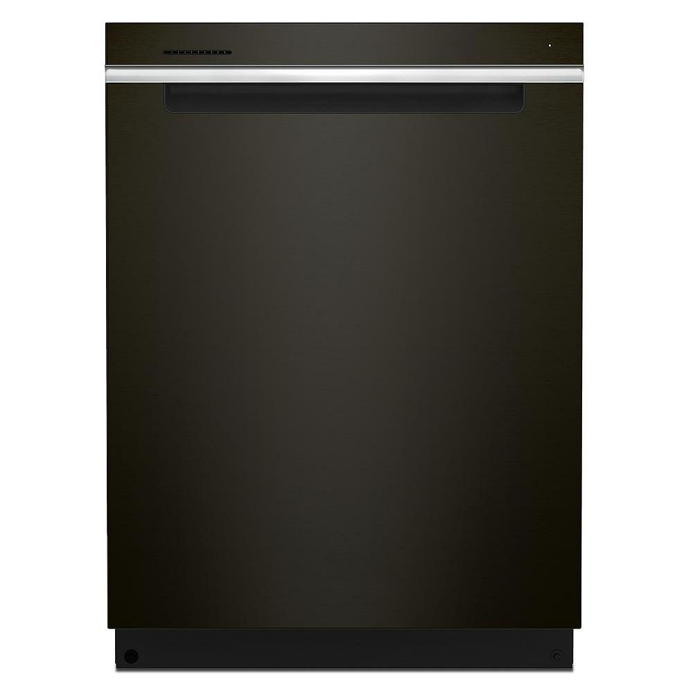 Whirlpool Dishwasher WDTA50SAKV in Black Stainless Steel color showcased by Corbeil Electro Store
