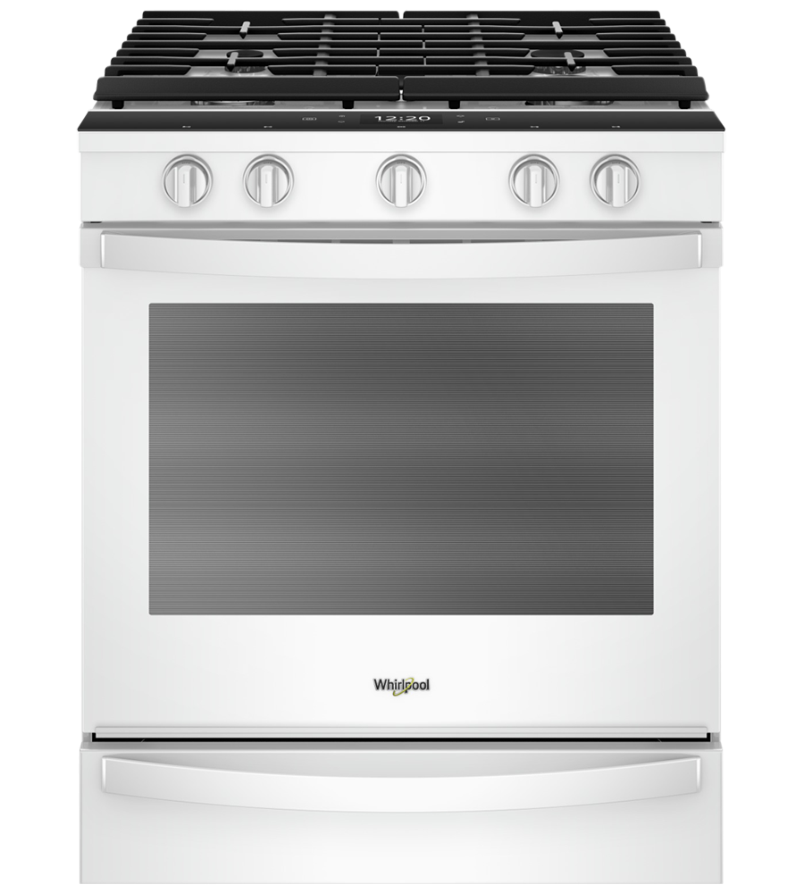 Whirlpool Range in White color showcased by Corbeil Electro Store