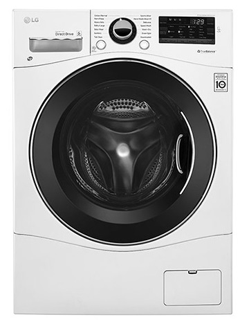 LG Washer in White color showcased by Corbeil Electro Store