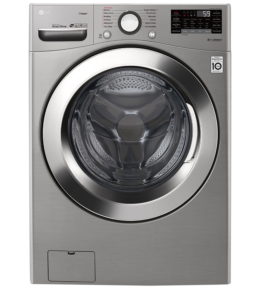 LG Washer 27 Graphite Steel WM3700HVA showcased by Corbeil Electro Store