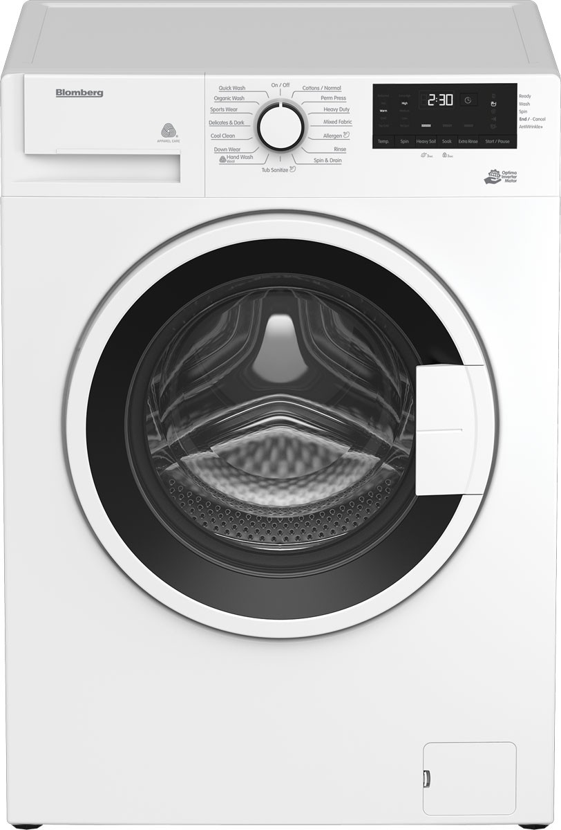 Blomberg Washer 24inch in White color showcased by Corbeil Electro Store