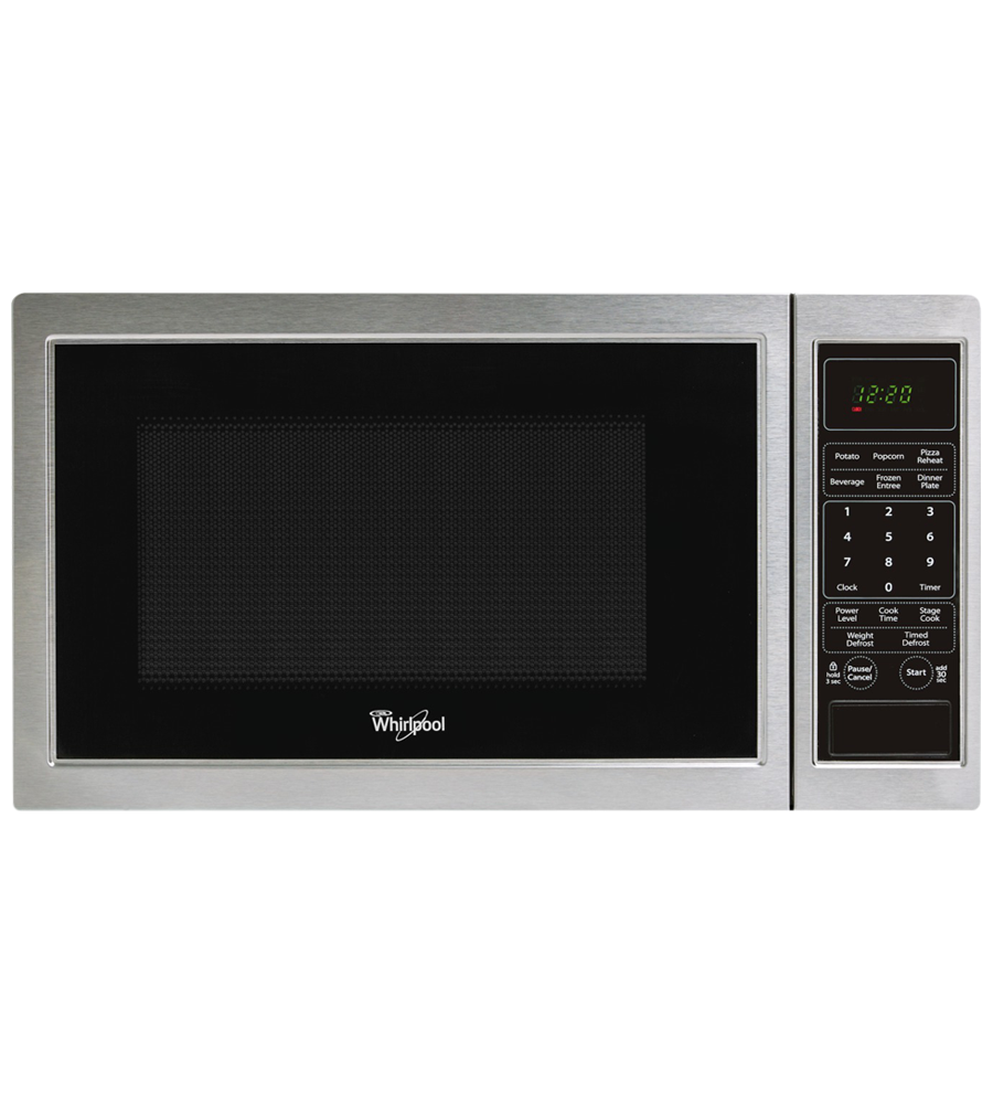 Whirlpool Microwave 19 StainlessSteel WMC11009AS in Stainless Steel color showcased by Corbeil Electro Store