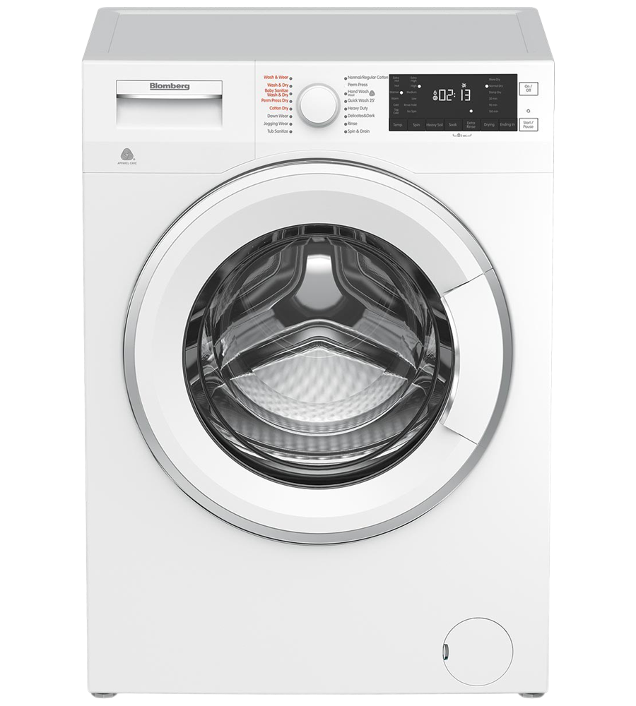 Blomberg Specialized laundry 24inch in White color showcased by Corbeil Electro Store