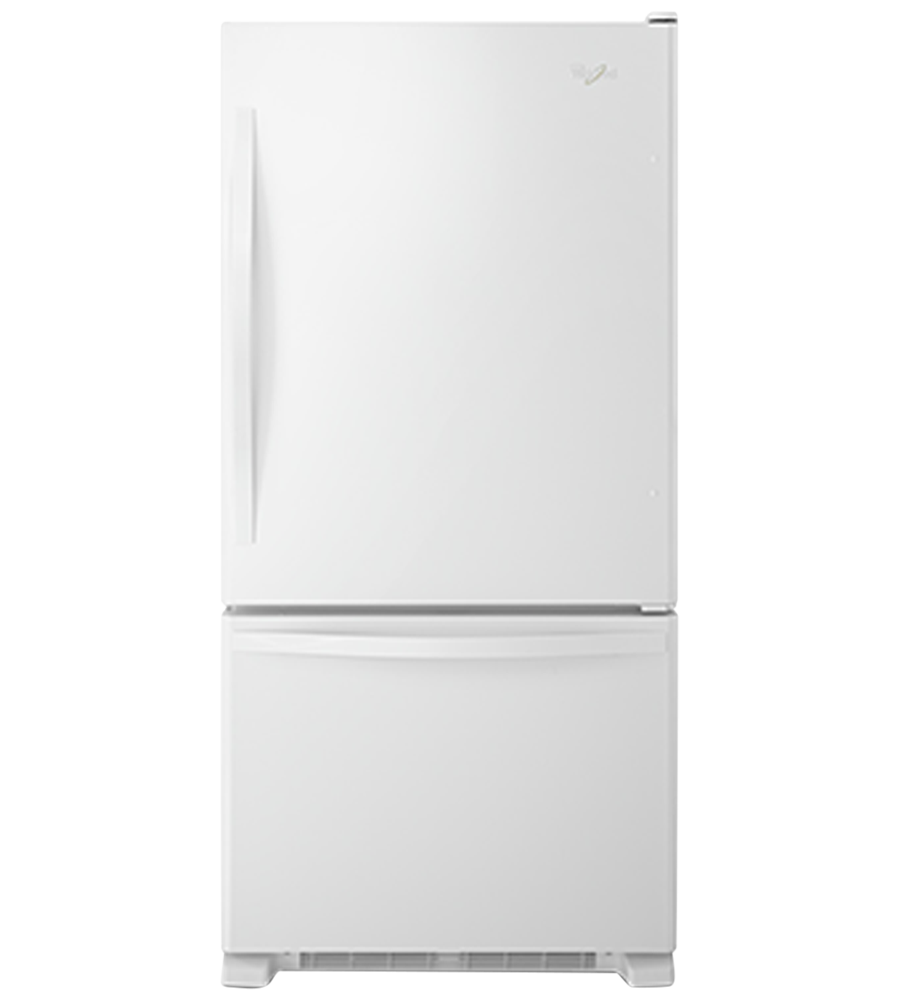 Whirlpool Refrigerator in White color showcased by Corbeil Electro Store