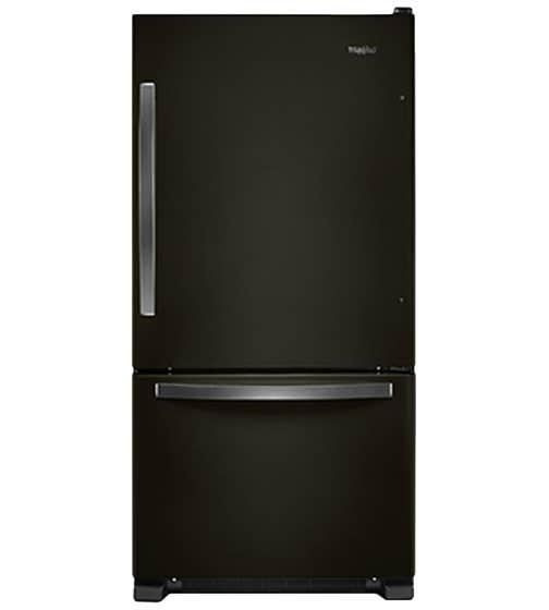 Réfrigérateur Whirlpool en couleur Acier Inoxydable Noir présenté par Corbeil Electro Store