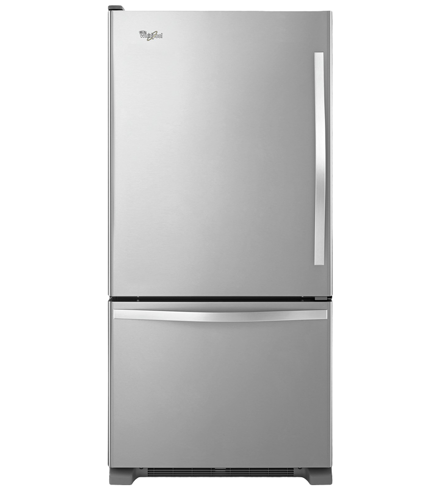 Whirlpool Refrigerator 30 StainlessSteel WRB329LFBM in Stainless Steel color showcased by Corbeil Electro Store