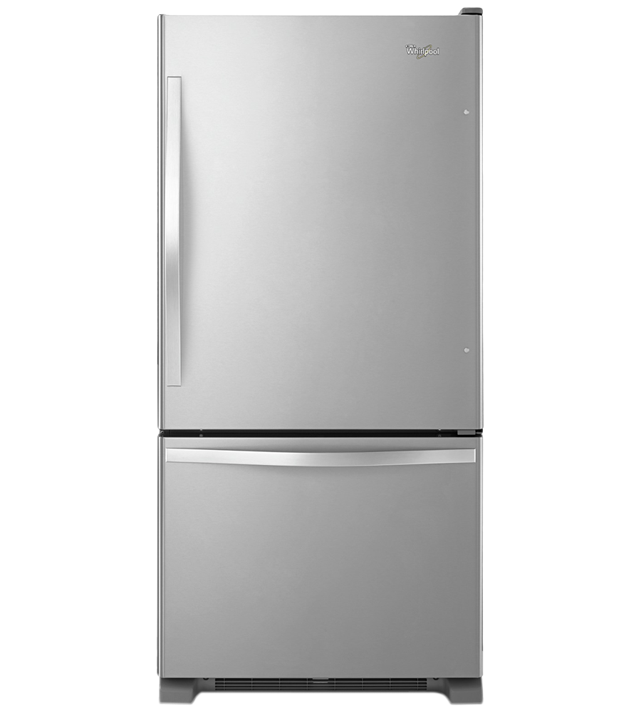 Whirlpool Refrigerator 30 StainlessSteel WRB329RFBM in Stainless Steel color showcased by Corbeil Electro Store