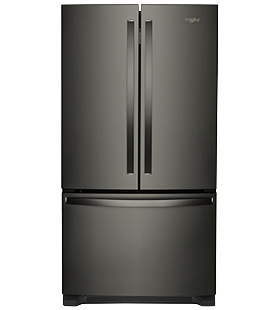 Whirlpool Refrigerator 36 WRF540CWH in Black Stainless Steel color showcased by Corbeil Electro Store