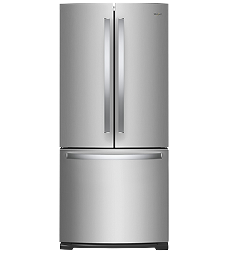 Whirlpool Refrigerator 30 WRF560SFH in Stainless Steel color showcased by Corbeil Electro Store