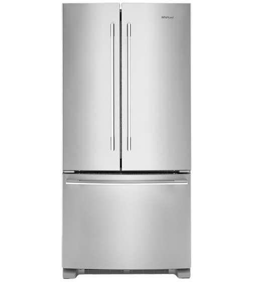 Réfrigérateur Whirlpool en couleur Acier Inoxydable présenté par Corbeil Electro Store