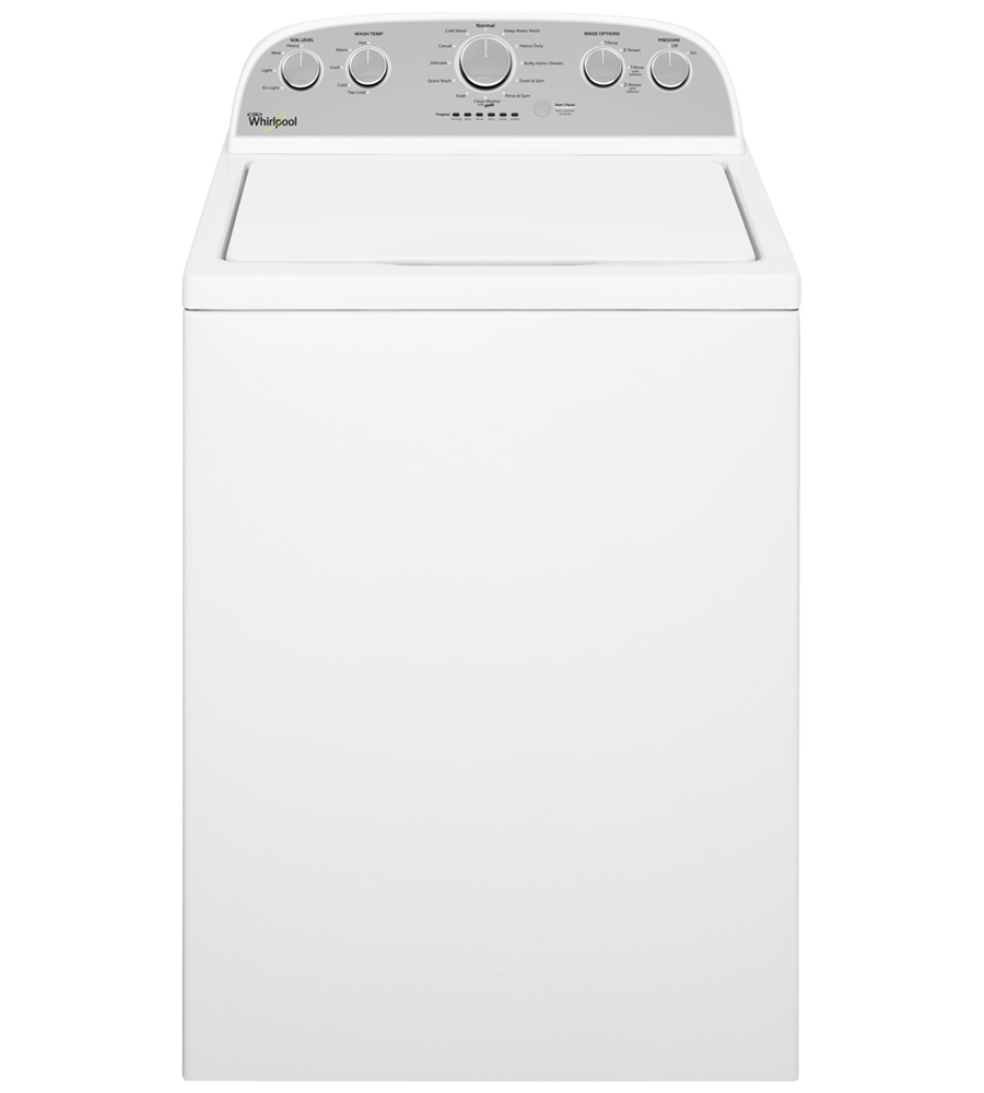 Whirlpool Washer 27 White WTW5000DW in White color showcased by Corbeil Electro Store