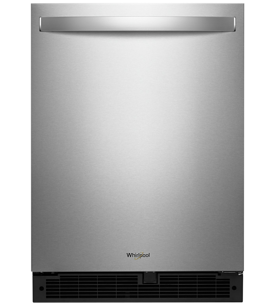 Whirlpool Refrigerator in Stainless Steel color showcased by Corbeil Electro Store